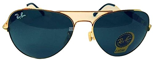 Ray-Ban RB3517 62/14/138 Aviator Non-Polarized Sunglasses, Golden Frame Medium size Blue Mirrored Lens, 62mm  available at amazon for Rs.4500