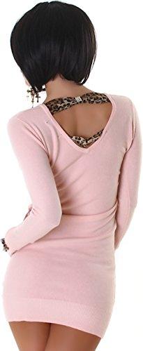 Jela London -  Vestito  - Astuccio - Basic - Maniche lunghe  - Donna Rosa