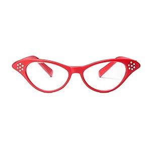 Providethebest Diamante Retro Kunststoff-Glas-Rahmen Harzlinse Frauen Dekoration Gläser Eyewear für Custume/Parteien