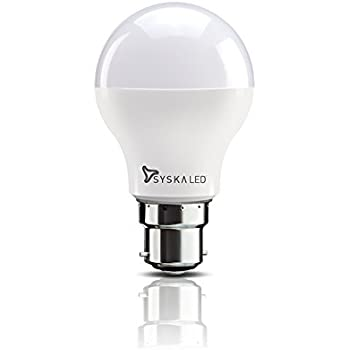 Syska B22 9-Watt LED Bulb (Cool Day Light)