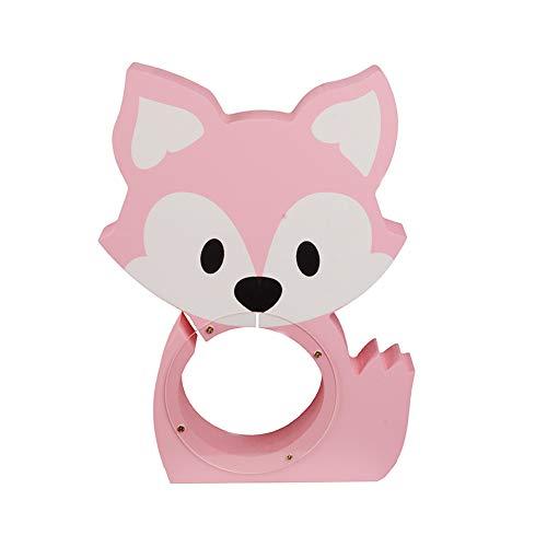Fox Madera en Forma de Banco de Moneda Caja de Dinero Linda de la Novedad Preescolar Sitio del Cuarto de niños de la decoración Hucha