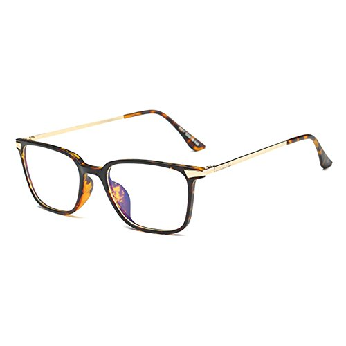 Anti Blue Light Brillen Clear Lens Gläser Geek / Nerd Retro Brille Rahmen für Männer Frauen Highdas (Light Blue Damen-shirt)