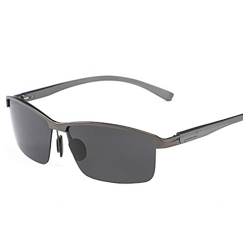 BHLTG Polarisierte sonnenbrille männer und frauen retro aluminium magnesium brille männer halb sonnenbrille radfahren fahren outdoor sport persönlichkeit mode sonnenbrille-5