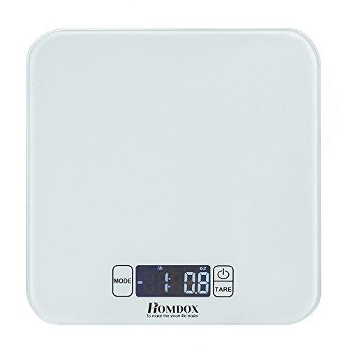 Homdox Digitale Küchenwaage Tara-Funktion 15Kg/1g Hohe Präzision Mini Multifunktionale Electronische Waage