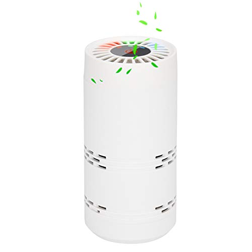 BESTBOMG Portátil Purificador de Aire - Filtro de Aire Ionizador Compacto Generador de Iones Negativos...