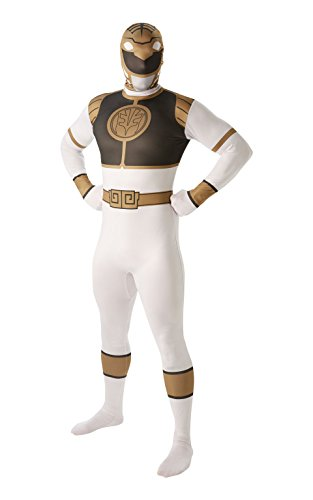 Kostüme Erwachsene White Ranger (Mighty Morphin Power Rangers White Ranger - Adult 2nd Skin Costume Men :)
