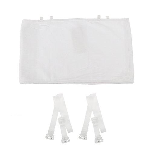 MagiDeal Les Lesben Tomboy Under Short Chest Binder Vest Bra -Drei Reihen - Weiß, S (Lesben T-shirt Designs)