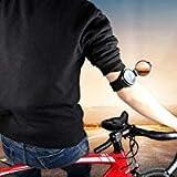 Tookie Fahrrad Spiegel, Handgelenk Band Bike Spiegel für Sicherheit Drehbar klappbar Cycle backeye mit Elastic Armband Tragbar Radfahren Zubehör, Schwarz