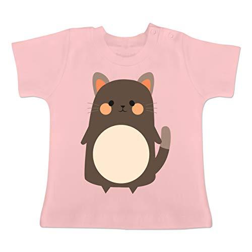 g Baby - Fasching Kostüm Katze - 1-3 Monate - Babyrosa - BZ02 - Baby T-Shirt Kurzarm ()