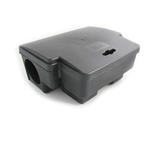DWY Mausefalle Außenköderstation Doppelloch Maus Hausköderbox Mausefalle Zum Fangen der großen Maus Kleine Maus Ideales Werkzeug (Color : Black, Größe : 22.5 * 18.5 * 8.5cm) -