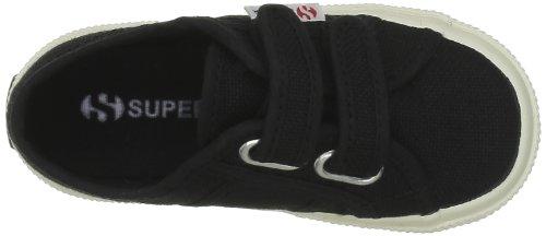 Superga 2750- JVEL CLASSIC S0003E0, Unisex - Kinder Sneaker Schwarz (999 Black)