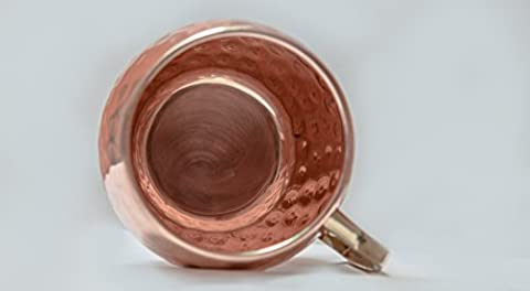 Handmade 100% Solid Copper Moscow Mule Mugs - Highest Quality Hammered Copper Mugs with Brass Handle