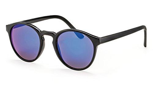 Filtral Runde Sonnenbrille/Blau verspiegelte Retro-Sonnenbrille für Damen & Herren F3002109