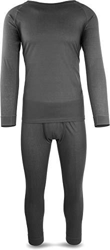 normani Herren Thermounterwäsche Set mit Quick-Dry-Funktion extrem schnelltocknendes, atmungasktives Material Farbe Anthrazit Größe L/52