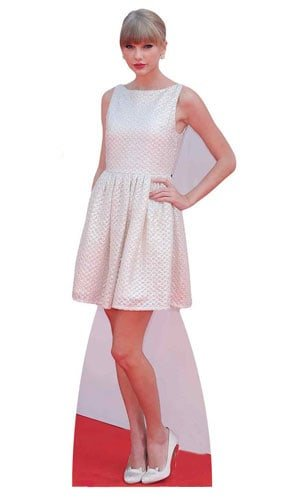 Celebrity Standee In Lebensgröße Taylor Swift Life Größe Karton Tisch Top Mini Cut Out, Holz, mehrfarbig, 182x 63x 182cm