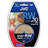 JVC 8cm DVD-RW - 30min/1.4 GB (Pack of 10)