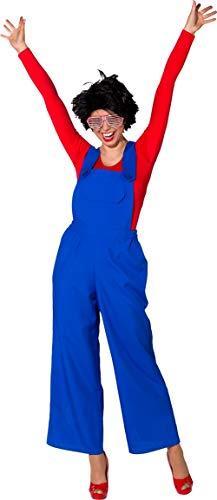 Gaming Retro Kostüm - Fancy Me Damen Clown-Latzhose Italienischer Klempner Retro Gaming Zirkus Karneval Festival Kostüm Outfit