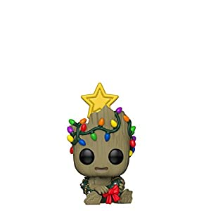Funko Pop Bobble Vinyle Marvel: Holiday-Groot Figura Coleccionable, Multicolor (43333)