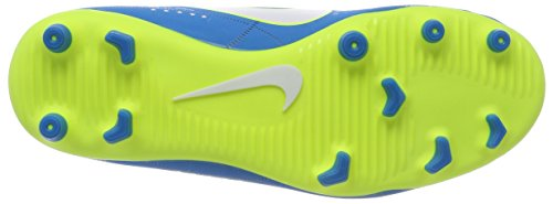 NIKE Unisex Kids  Jr  Mercurial Vortex III Neymar FG Football Boots  White Blue Orbit-Armory Navy  4 5 UK 37 5 EU