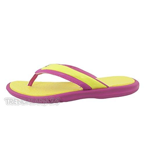 Adidas Badesandalen Novellito K Unisex prime yellow-intense pink, 32