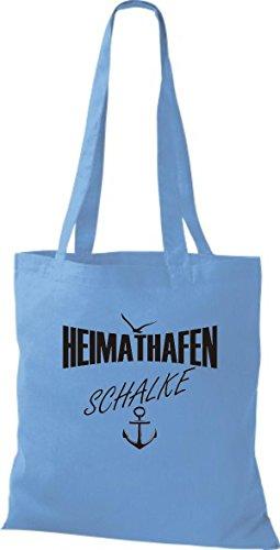 Shirtstown Stoffbeutell Heimathafen Schalke viele Farben Hellblau