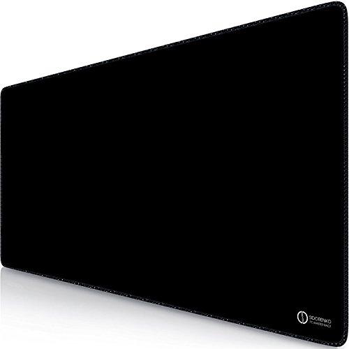 Preisvergleich Produktbild Sidorenko XXL Gaming Mauspad | 900 x 400 mm | XXL Mousepad |Tischunterlage/Large Size | Spezielle Oberfläche verbessert Geschwindigkeit und Präzision | Fransenfreie Ränder | Rutschfest | schwarz