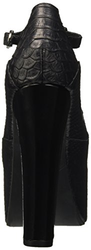 Jeffrey Campbell Foxy Snake, Chaussures à Talons à Bout Ouvert Femme Noir