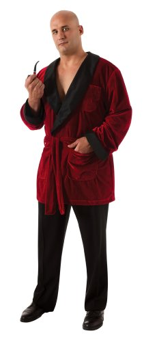 Rubies Kost-me 186716 Playboy Herren Smoking Jacket Adult Plus-Kost-m - Rot - plus - - Herren Playboy Kostüm