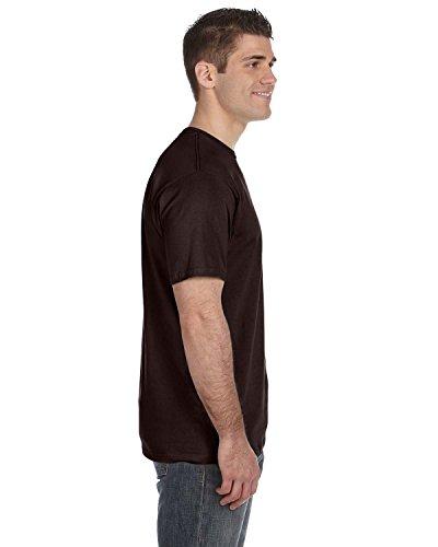 Jesus Saves auf American Apparel Fine Jersey Shirt Schokoladenbraun