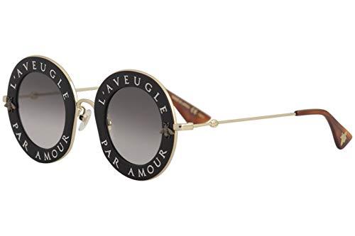 Gucci GG0113S 001, Montures de Lunettes Femme, Noir (Black/Grey), 44