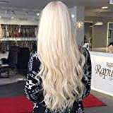 Hetto 16 Pouces Bresilien Remy Hair Extension a Clip #60 Blond Platine Straight Seamless Clips in Hair Extensions 120gram 7pcs/Paquet Cheveux Raides Extension Cheveux Clip in