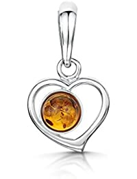 Amber Pendant Owl with Natural Amber and 925/000 Sterling Silver by Artisana Bb0MrI