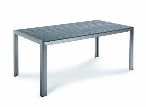 Best 46851885 Tisch Seattle 180 x 90 cm, Silber/anthrazit