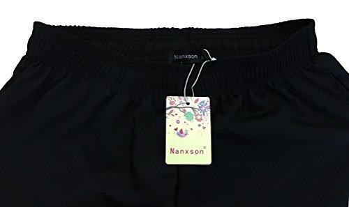 Nanxson Unisex Herren Damen Arbeitshose Kochhose Hotel Hose mit elastischer Taille CFM2008- (Schwarz, Taille: 67-90 cm) - 5