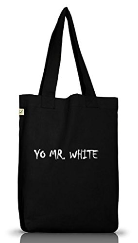 Shirtstreet24, YO MR. WHITE, Jutebeutel Stoff Tasche Earth Positive Black