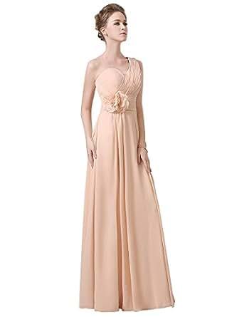 Adasbridal-Elegante Chiffon Una Spallina Scollatura Strascico a Terra A-line Abito da Sposa