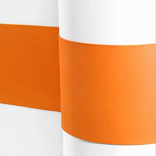 Sossai® Flexibler Wandschutz Serpent Länge: 1 Meter | Höhe 210mm | Selbstklebend | Wandschutzfolie Kantenschutz Schmutzschutz Flurleiste Rammschutz | Farbe: Orange