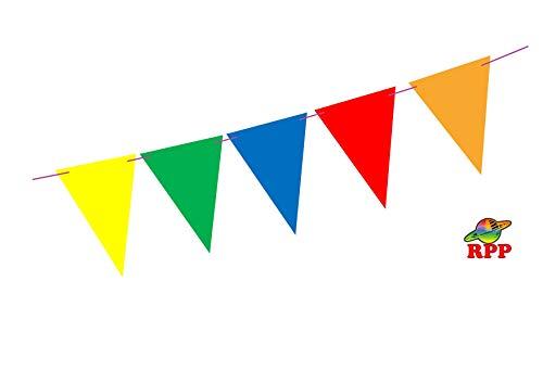 RPP Girlande, bunt, dreieckige Flaggen, Banner für Party, Geburtstag, Festival, Dekoration, mit 10 m Schnur (Banner Geburtstag Anpassen)