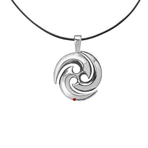 Celtic Pendant - Celtic Swirl in Stainless Steel on Leather Cord