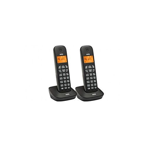 AEG Voxtel D135 Twin - Zwei schnurlos DECT Telefon mit Anrufbeantworter Twin-dect-telefon