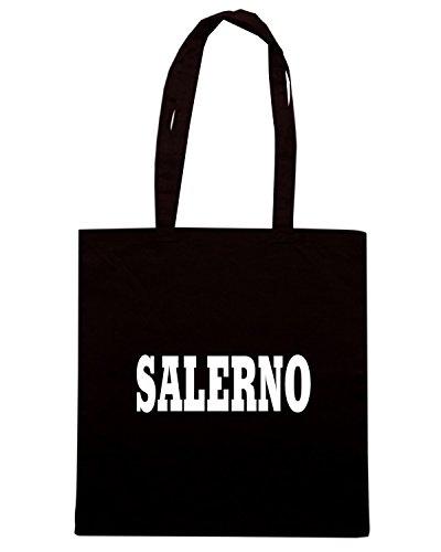 T-Shirtshock - Borsa Shopping WC0954 SALERNO ITALIA CITTA STEMMA LOGO Nero