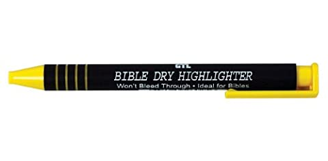 Bible Dry Highlighter - Yellow 12pk
