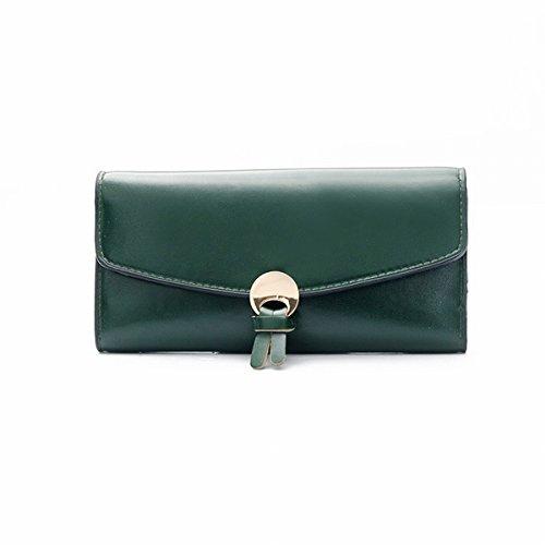 Geld damen handtasche mode tasche Geld Geldbörse einfache wölbung lange brieftasche Grün