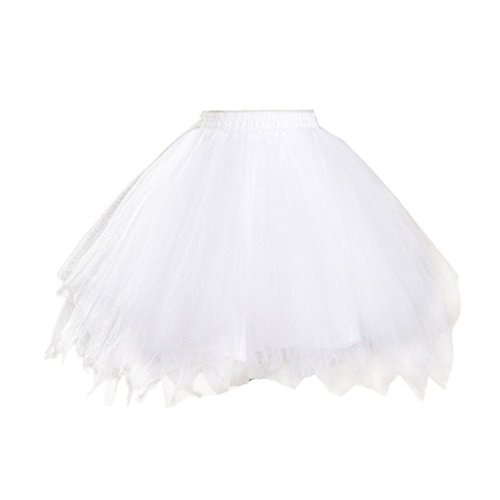 Honeystore Damen's Tutu Unterkleid Rock Abschlussball Abend Gelegenheit Zubehör Weiß (Mädchen-jeans Braune)