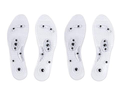 Magnetische Therapeutische Kissen (Winthai Euphoric Feet Einlegesohle,Akupressur Einlegesohlen, 2 Paar Magnetische Massage Schuheinlagen Pad Therapie Akupressur Fußpflege Kissen für Frauen)