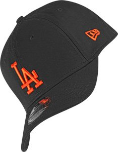 New Era 3930 MLB Black Base LA Dodgers Cap black/orange