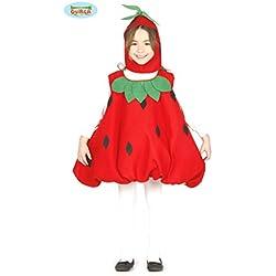 Costume vestito fragola frutta carnevale bambina taglia 5-6 anni