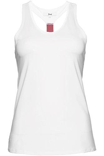 FIND Damen Sport-Tanktop Weiß (White/Damson), 42 (Herstellergröße: X-Large)