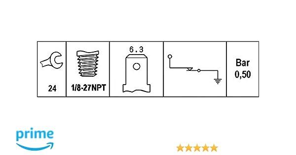 Gewindema/ß 1//8-27-NPT HELLA 6ZL 003 259-381 /Öldruckschalter 0,4 bis 0,6 bar