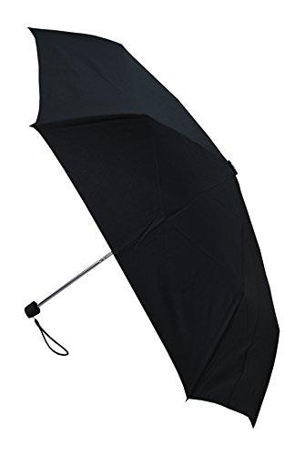 C&C LONDON - Parapluie de poche - MINI TUBE - 210 g seulement - CONCEPTION HAUTEMENT TECHNIQUE POUR COMBATTRE LES DOMMAGES CAUSÉS PAR LES RETOURNEMENTS - Compact et Robuste - Noir - Pliable
